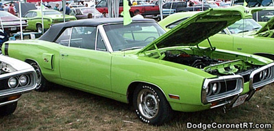 1970 Dodge Coronet R/T Convertible. Photo from 1999 Mopar Nationals - Columbus, Ohio.