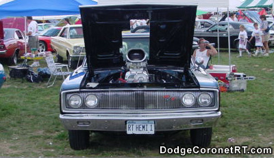 1967 Dodge Coronet R/T with supercharged 426 Hemi.. Photo from 2000 Mopar Nationals - Columbus, Ohio.