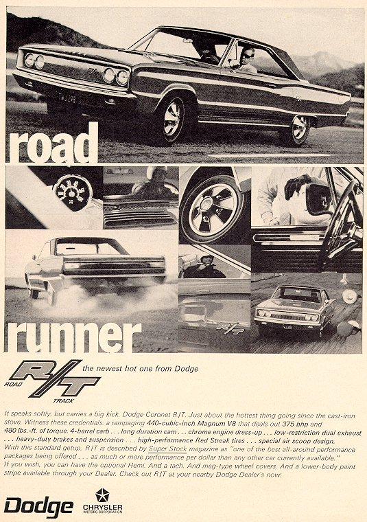 1967 Dodge Coronet R/T Ad