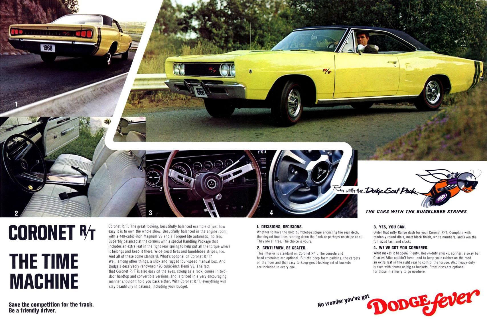 "1968 Dodge Scat Pack Advertisement – ""Time Machine"""