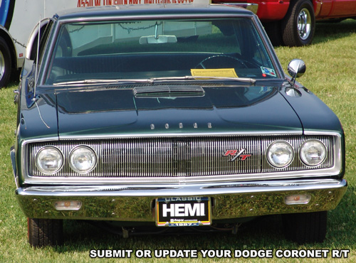 1967 Dodge Coronet R/T. Photo from 2005 Mopars At Indy Event.