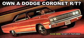 Own A Dodge Coronet R/T?